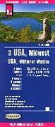 Cover-Bild zu Reise Know-How Landkarte USA 03, Mittlerer Westen / USA, Midwest (1.1.250.000) : Illinois, Indiana, Iowa, Michigan, Minnesota, Missouri, Wisconsin. 1:1'250'000