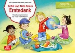 Cover-Bild zu Fromme-Seifert, Viola M.: Betül und Nele feiern Erntedank. Kamishibai Bildkartenset