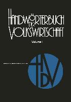 Cover-Bild zu Rettig, Rolf: Handwörterbuch der Volkswirtschaft