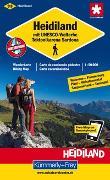 Cover-Bild zu Heidiland mit UNESCO-Welterbe Tektonikarena Saradona Wanderkarte Nr. 33. 1:50'000