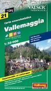 Cover-Bild zu Vallemaggia Wanderkarte Nr. 21, 1:50 000. 1:50'000