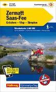 Cover-Bild zu Zermatt - Saas Fee, Grächen, Visp, Simplon Wanderkarte Nr. 24. 1:60'000