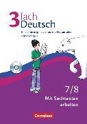 Cover-Bild zu 3fach Deutsch, Differenzierungsmaterial auf drei Niveaustufen, 7./8. Jahrgangsstufe, Mit Sachtexten arbeiten, Kopiervorlagen mit CD-ROM von Bonora, Susanne