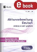 Cover-Bild zu Epochen der deutschen Literatur (eBook) von Schäfer, Stefan