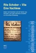 Cover-Bild zu Röseberg, Dorothee (Hrsg.): Rita Schober - Vita. Eine Nachlese