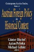 Cover-Bild zu Pelinka, Anton: Austrian Foreign Policy in Historical Context (eBook)