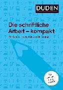 Cover-Bild zu Duden-Ratgeber Die schriftliche Arbeit (eBook) von Niederhauser, Jürg