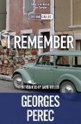 Cover-Bild zu Perec, Georges: I Remember (eBook)