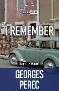 Cover-Bild zu Perec, Georges: I Remember