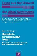 Cover-Bild zu Kümmel, Hans Martin: Historisch-chronologische Texte II (eBook)
