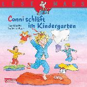 Cover-Bild zu LESEMAUS: Conni schläft im Kindergarten (eBook) von Schneider, Liane