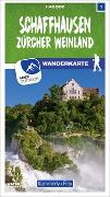 Cover-Bild zu Schaffhausen 01 Wanderkarte 1:40 000 matt laminiert. 1:40'000
