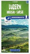 Cover-Bild zu Luzern 12 Wanderkarte 1:40 000 matt laminiert. 1:40'000