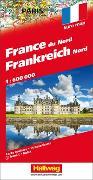 Cover-Bild zu Hallwag Kümmerly+Frey AG (Hrsg.): Frankreich Nord Strassenkarte. 1:600'000