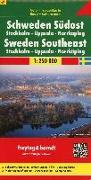 Cover-Bild zu Freytag-Berndt und Artaria KG (Hrsg.): Schweden Südost - Stockholm - Uppsala - Norrköping, Autokarte 1:250.000. 1:250'000