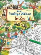 Cover-Bild zu Wandrey, Guido (Illustr.): Mein Lieblings-Malbuch - Im Zoo