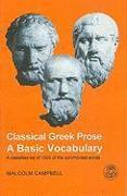 Cover-Bild zu Campbell, Malcolm: Classical Greek Prose: A Basic Vocabulary