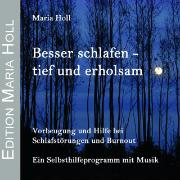 Cover-Bild zu Besser schlafen - tief und erholsam von Holl, Maria
