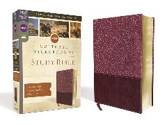 Cover-Bild zu Zondervan,: NRSV, Cultural Backgrounds Study Bible, Leathersoft, Burgundy, Comfort Print