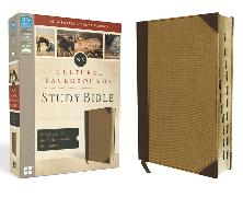 Cover-Bild zu Zondervan,: NIV, Cultural Backgrounds Study Bible, Leathersoft, Tan, Red Letter, Thumb Indexed