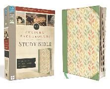 Cover-Bild zu Zondervan,: NIV, Cultural Backgrounds Study Bible, Leathersoft, Green, Indexed, Red Letter Edition