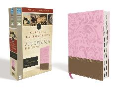 Cover-Bild zu Zondervan,: NIV, Cultural Backgrounds Study Bible, Personal Size, Leathersoft, Pink/Brown, Indexed, Red Letter Edition