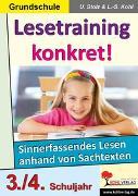 Cover-Bild zu Lesetraining konkret! / 3.-4. Schuljahr (eBook) von Stolz, Ulrike