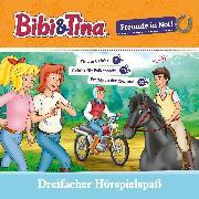 Cover-Bild zu Bibi & Tina - Freunde in Not (Tina in Gefahr / Gefahr für Falkenstein / Freddy in der Klemme) (Audio Download) von Sand, Nelly