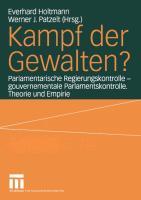 Cover-Bild zu Holtmann, Everhard (Hrsg.): Kampf der Gewalten?