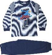 Cover-Bild zu Globi Pyjama dunkelblau gestreift Hürdenläufer 98/104