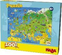 Cover-Bild zu Simon, Ute (Illustr.): Puzzle Länder Europas 100 Teile