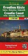 Cover-Bild zu Kroatien Küste, Istrien - Dalmatien - Dubrovnik, Autokarte 1:200.000. 1:200'000