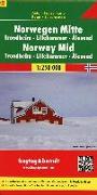 Cover-Bild zu Norwegen Mitte - Trondheim - Lillehammer - Alesund, Autokarte 1:250.000. 1:250'000