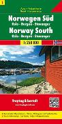 Cover-Bild zu Norwegen Süd - Oslo - Bergen - Stavanger, Autokarte 1:250.000. 1:250'000