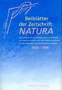 Cover-Bild zu Beiblätter der Zeitschrift Natura