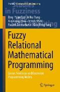 Cover-Bild zu Fuzzy Relational Mathematical Programming von Cao, Bing-Yuan
