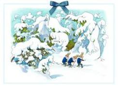 Cover-Bild zu Kreidolf, Ernst (Illustr.): Adventskalender Zwerge im Schnee