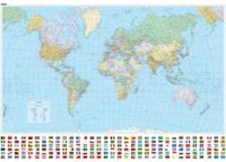 Cover-Bild zu Welt politisch mit Relief (d,f,e) 1:30 Mio. Poster. 1:30'000'000