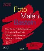 Cover-Bild zu Foto-Malen-Basteln Bastelkalender schwarz groß 2020 von Korsch Verlag (Hrsg.)
