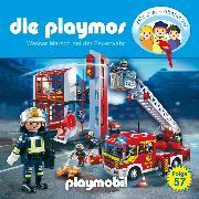 Cover-Bild zu Fickel, Florian: Die Playmos - Das Original Playmobil Hörspiel, Folge 57: Wasser Marsch bei der Feuerwehr (Audio Download)