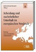 Cover-Bild zu Hofer, Sibylle (Hrsg.): Scheidung und nachehelicher Unterhalt im europäischen Vergleich