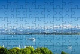 Cover-Bild zu Gmeiner-Verlag (Hrsg.): Puzzle-Postkarte Bodensee 2