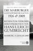Cover-Bild zu Fielitz, Sonja (Hrsg.): Die Marburger Geisteswissenschaften 1926 und 2009