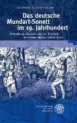 Cover-Bild zu Hänselmann, Matthias C.: Das deutsche Mundart-Sonett im 19. Jahrhundert