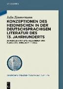Cover-Bild zu Zimmermann, Julia: Konzeptionen des Heidnischen in der deutschsprachigen Literatur des 13. Jahrhunderts