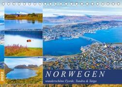 Cover-Bild zu VogtArt: Norwegen wunderschöne Fjorde, Tundra & Taiga (Tischkalender 2022 DIN A5 quer)