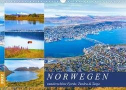 Cover-Bild zu VogtArt: Norwegen wunderschöne Fjorde, Tundra & Taiga (Wandkalender 2022 DIN A3 quer)
