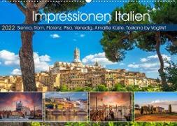 Cover-Bild zu VogtArt: Impressionen Italien, Sienna, Rom, Florenz, Pisa, Venedig, Amalfie Küste, Toskana by VogtArt (Wandkalender 2022 DIN A2 quer)
