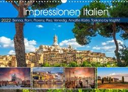 Cover-Bild zu VogtArt: Impressionen Italien, Sienna, Rom, Florenz, Pisa, Venedig, Amalfie Küste, Toskana by VogtArt (Wandkalender 2022 DIN A3 quer)