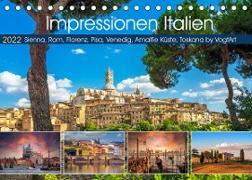Cover-Bild zu VogtArt: Impressionen Italien, Sienna, Rom, Florenz, Pisa, Venedig, Amalfie Küste, Toskana by VogtArt (Tischkalender 2022 DIN A5 quer)